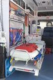 Equipment into the emergency vehicle Stock Image