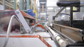 Equipment on a factory stock footage