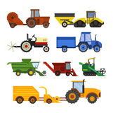 Equipment farm for agriculture machinery harvester Royalty Free Stock Image