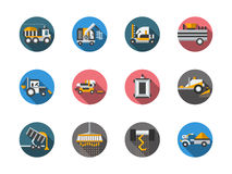 Equipment for farming round color icons Royalty Free Stock Images