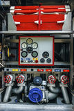 Equipment in a fire car 1 Royalty Free Stock Photo