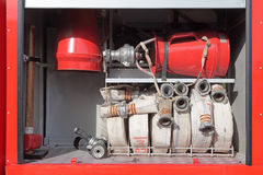Equipment of fire truck Stock Image