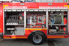 Equipment of fire truck Stock Photography