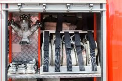 Equipment fire truck Royalty Free Stock Photos
