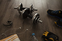 Equipment for fitness. All the necessary equipment for fitness Stock Photo