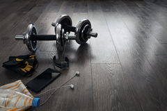 Equipment for fitness Stock Photos