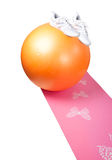 Equipment for fitness with fitball Stock Image
