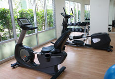 Equipment in fitness room Royalty Free Stock Photo