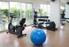 Equipment in fitness room Royalty Free Stock Images