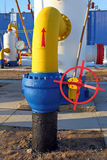 The equipment on the gas pipeline Stock Photo