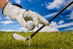 Equipment of golf game Stock Photography