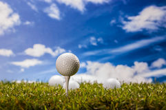 Equipment of golf game Stock Photos