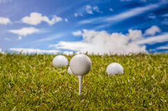 Equipment of golf game Stock Image