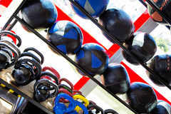 Equipment in the gym Royalty Free Stock Images