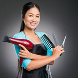 Equipment for haircutting Stock Photography