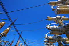 Equipment of high electric voltage Royalty Free Stock Images