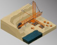 Equipment for high-mining industry. Stock Photo