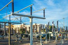 Equipment of a high voltage of electric networks Stock Photos