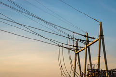 Equipment of a high voltage of electric networks Stock Image