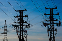Equipment of a high voltage of electric networks Stock Photo