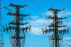 Equipment of a high voltage of electric networks Royalty Free Stock Photo
