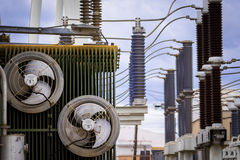 Equipment of a high voltage of electric networks Stock Images