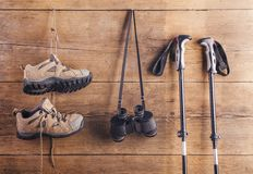 Equipment for hiking Stock Photos
