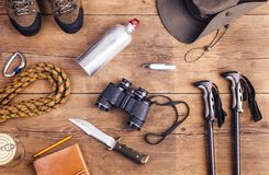 Equipment for hiking Stock Image