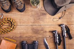 Equipment for hiking Stock Photography