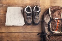 Equipment for hiking Royalty Free Stock Photography