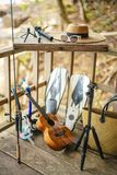 Equipment for holidays stock image