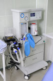 The equipment in hospital. The multipurpose medical narcotic, respiratory device Stock Photo