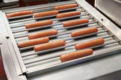 Equipment for hot dog preparation Stock Photo