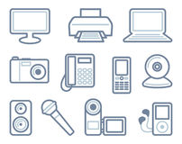 Equipment icons Royalty Free Stock Photos