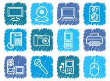 Equipment icons Stock Images