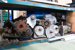 Equipment industry Motor, Gear, Shaft, Chain. Keeping equipment industry Motor, Gear, Shaft, Chain Stock Photo