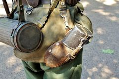 Equipment of infantryman Stock Images