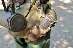 Equipment of infantryman Stock Images