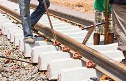Equipment installation anchor rails Stock Photos