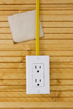 Equipment for installing electrical outlets Royalty Free Stock Image