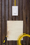 Equipment for installing electrical outlets Stock Image