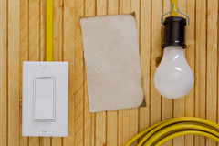 Equipment for installing electrical outlets Stock Photos