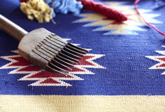 Equipment for Jacquard loom hand weaving Royalty Free Stock Images