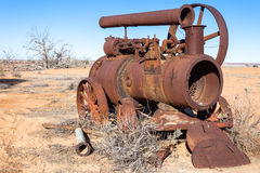Equipment left at abandoned farm in outback Australia. Stock Images