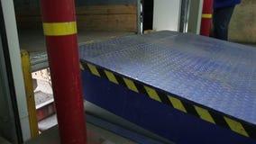 Equipment for loading in trailer stock video
