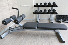 Equipment And Machines At The Modern Gym Room Royalty Free Stock Photography