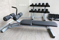 Equipment And Machines At The Modern Gym Room Fitness Center stock image