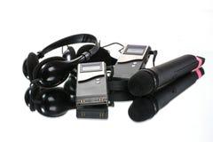 Equipment for translating languages stock image
