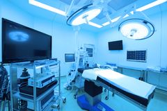 Equipment and medical devices in modern operating room. HUA-HIN, THAILAND - JANUARY 17 ,2018 : equipment and medical devices in modern operating room take with Royalty Free Stock Photo