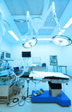 Equipment and medical devices in modern operating room Stock Image
